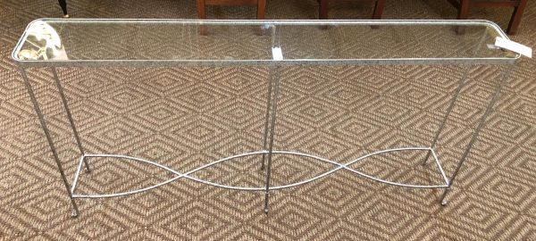 Anna's Mostly Mahogany Consignment - Silver Console Table