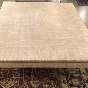 Anna's Mostly Mahogany Consignment - Grass Cloth Table