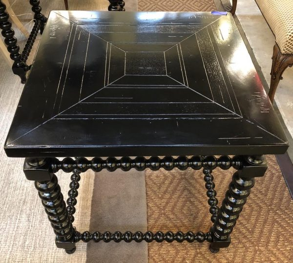 Anna's Mostly Mahogany Consignment - Black Lacquered End Tables