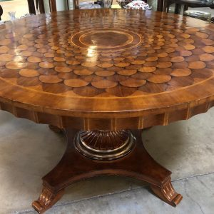 Anna's Mostly Mahogany Consignment - Walnut Inlay Table