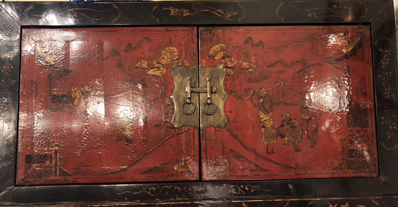 Black Amp Red Chinoiserie Cabinet Antique And Art
