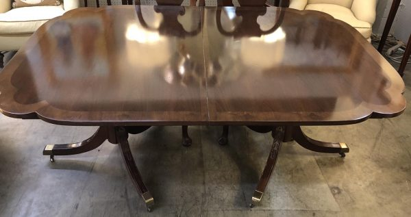 Anna's Mostly Mahogany Consignment - Scalloped mahogany dining table
