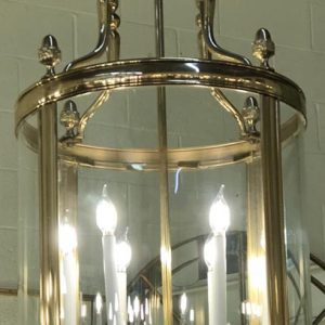 Anna's Mostly Mahogany Consignment - Brass Georgian lantern