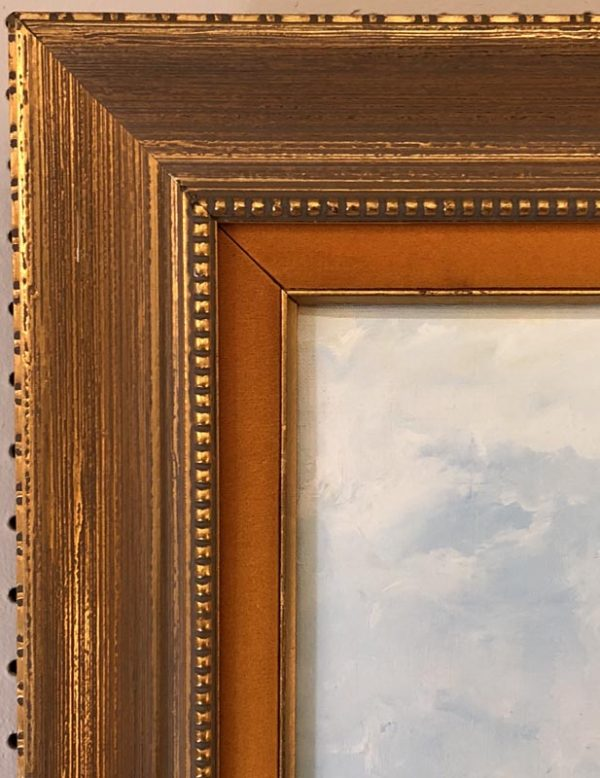 """Anna's Mostly Mahogany Consignment - Painting of two girls in braids at the beach signed by Hiro 33""""H  26""""W"""