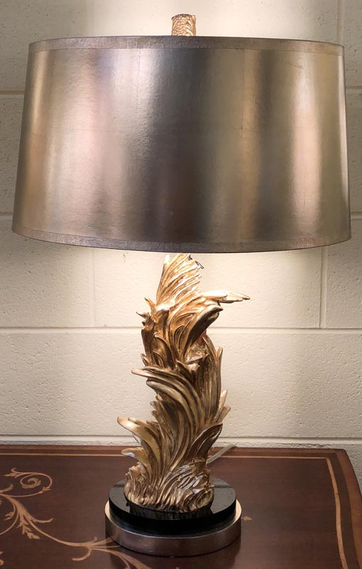 Anna's Mostly Mahogany Consignment - Pair of gold leaf lamps