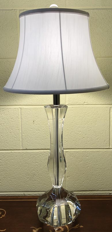 Anna's Mostly Mahogany Consignment - Pair of crystal lamps