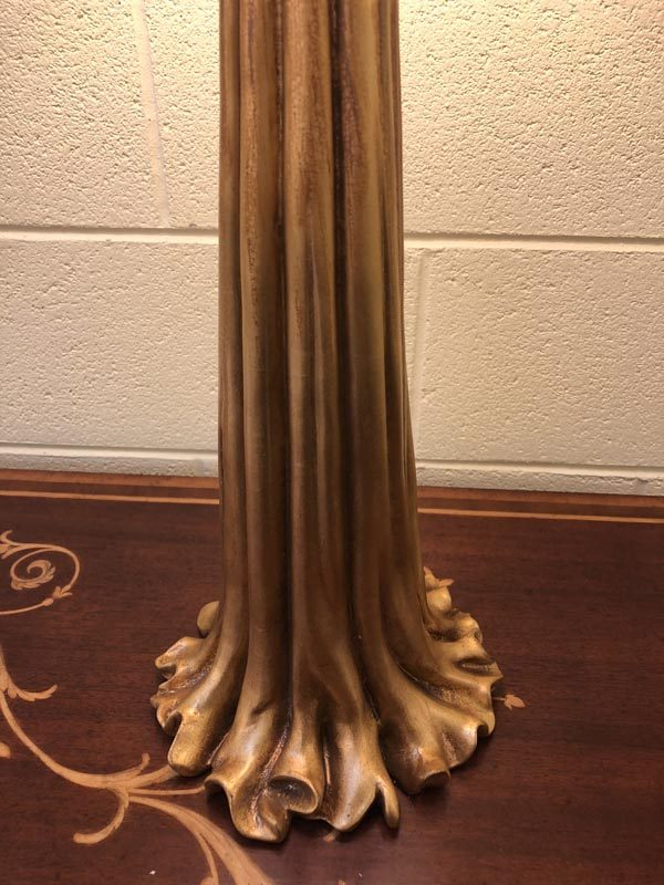 Anna's Mostly Mahogany Consignment - Pair of gold tassel lamps