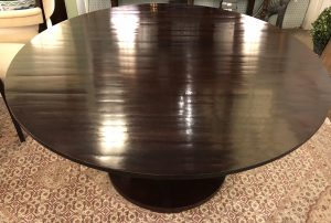 Anna's Mostly Mahogany Consignment - 58' Round Table Barbara Barry