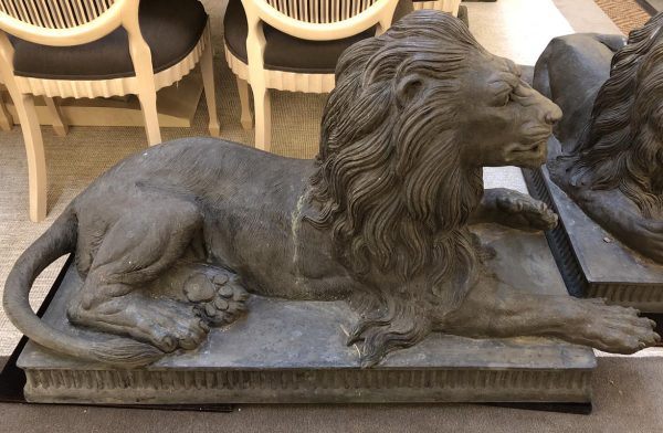 Anna's Mostly Mahogany Consignment - Pr of Regal Garden Lions