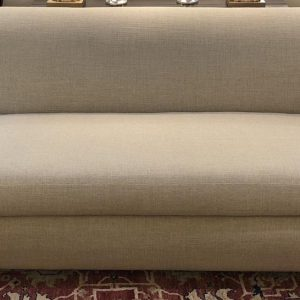 Anna's Mostly Mahogany Consignment - Beige Linen Sofa