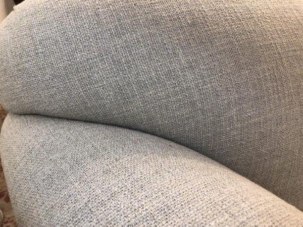 Anna's Mostly Mahogany Consignment - Beige Linen Sofa