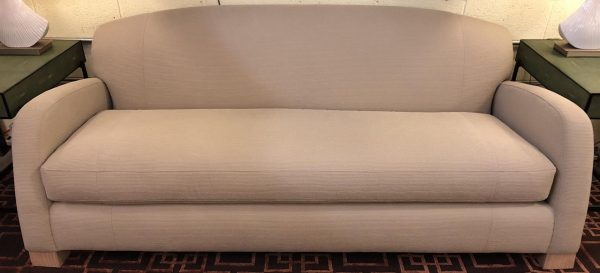 Anna's Mostly Mahogany Consignment - Tan Sofa