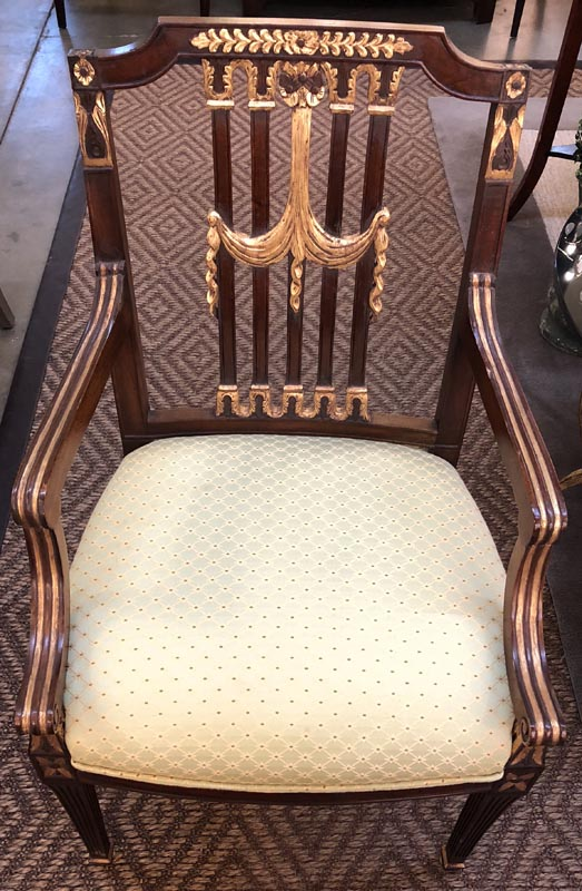 Anna's Mostly Mahogany Consignment - Set of Ten Hepplewhite Dining Chairs