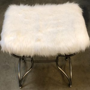 Anna's Mostly Mahogany Consignment - White Fuax Fur Bench