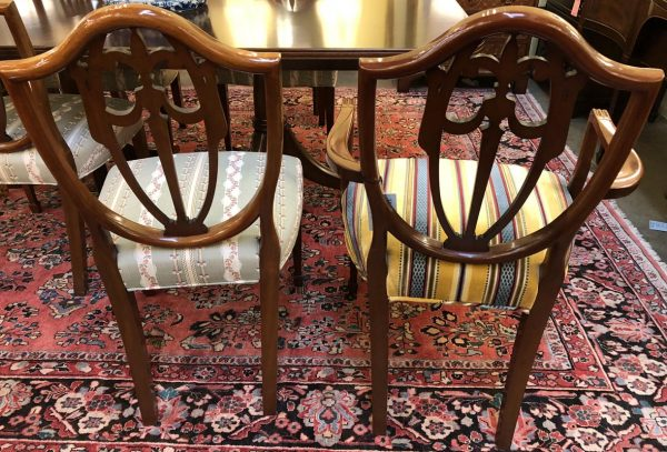 Anna's Mostly Mahogany Consignment - Set of Six Kindel Shield Back Dining Chairs