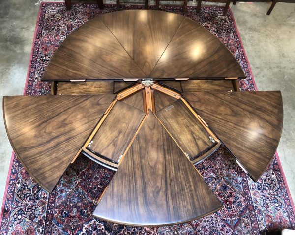 Anna's Mostly Mahogany Consignment - Modern Round Dining Table