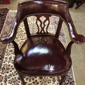 Anna's Mostly Mahogany Consignment - Dark Red Leather Chair