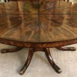 Anna's Mostly Mahogany Consignment - Elliptical Mahogany Dining Table