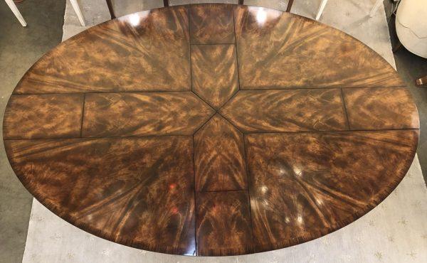 Anna's Mostly Mahogany Consignment - Elliptical Mahogany Dining Table