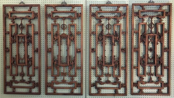 Anna's Mostly Mahogany Consignment - Carved Teak Panels