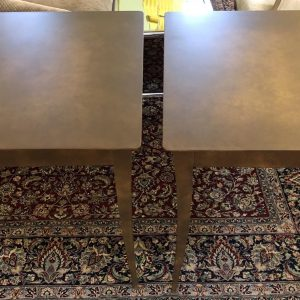 Anna's Mostly Mahogany Consignment - Pr Metal Endtables