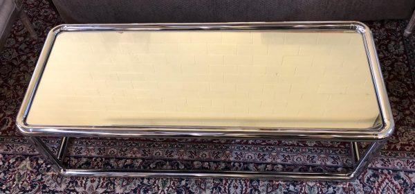 Anna's Mostly Mahogany Consignment - Mirror Chrome Table