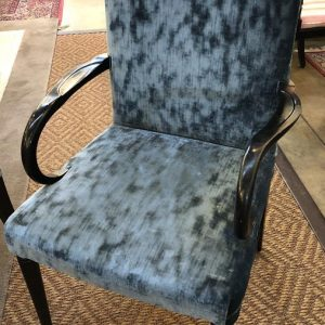 Anna's Mostly Mahogany Consignment - Set 8 Blue Velvet Chairs