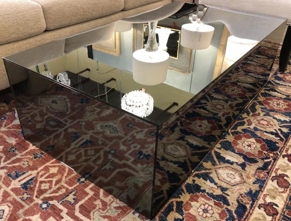 Anna's Mostly Mahogany Consignment - Mirrored Cocktail Table