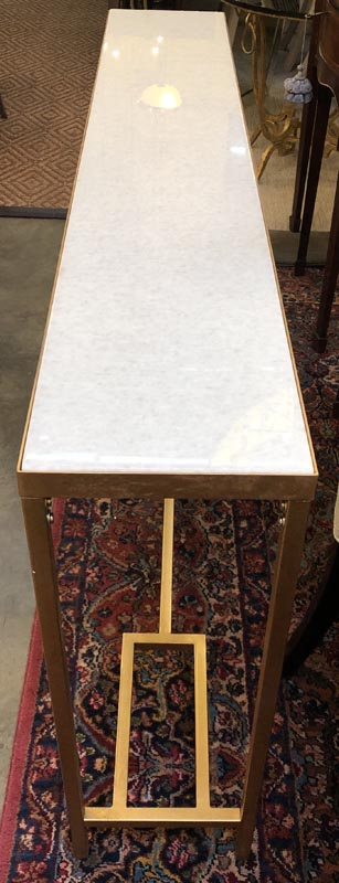 Anna's Mostly Mahogany Consignment - Large White/Gold Console Table