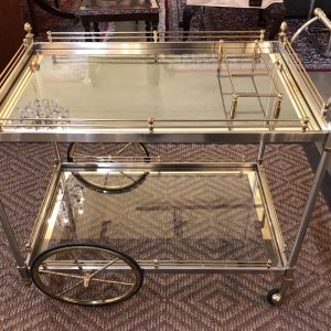 Anna's Mostly Mahogany Consignment - Maison Jansen Style Bar Cart