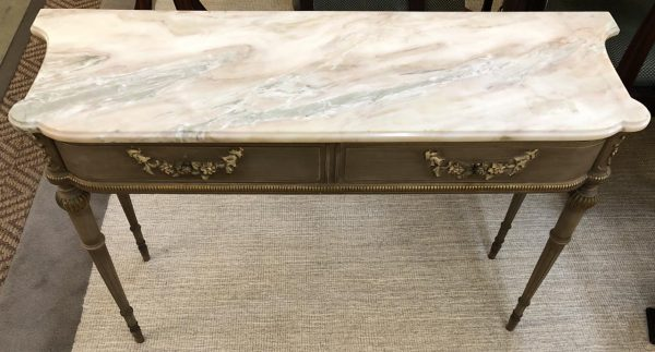 Anna's Mostly Mahogany Consignment - Marble Top French Console