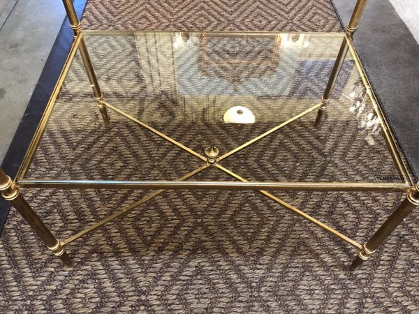 Anna's Mostly Mahogany Consignment - Pr Gold Tables