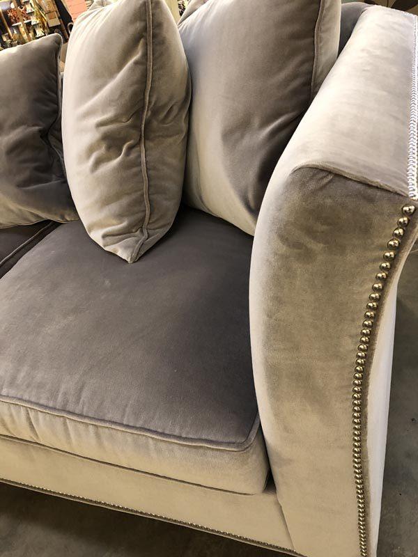Anna's Mostly Mahogany Consignment - Velvet Sofa