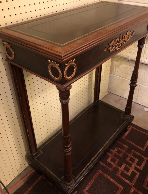 Anna's Mostly Mahogany Consignment - Leather Top Console Table