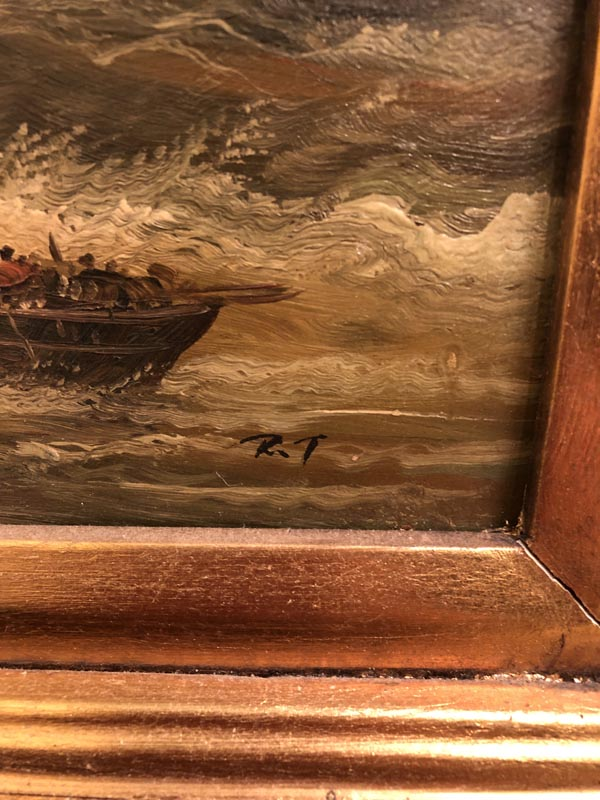 Ships Scene Painting Antique And Art Consignment