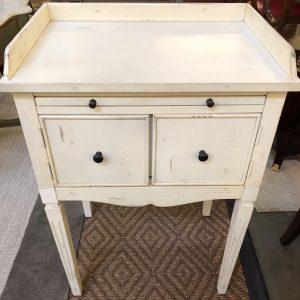 Anna's Mostly Mahogany Consignment - Pr White Nightstands
