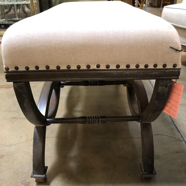 Anna's Mostly Mahogany Consignment - Linen Bench