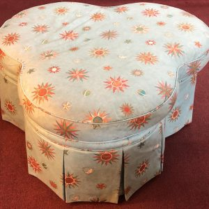 Anna's Mostly Mahogany Consignment - Clover Ottoman