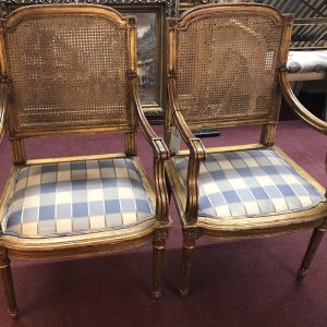 Anna's Mostly Mahogany Consignment - Pr French Chairs