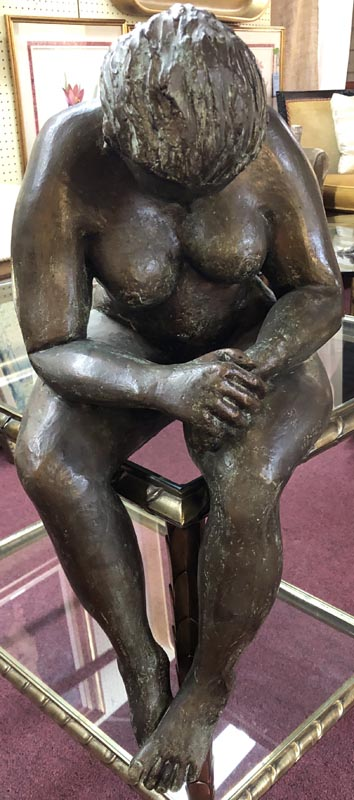 Anna's Mostly Mahogany Consignment - Woman Sculpture