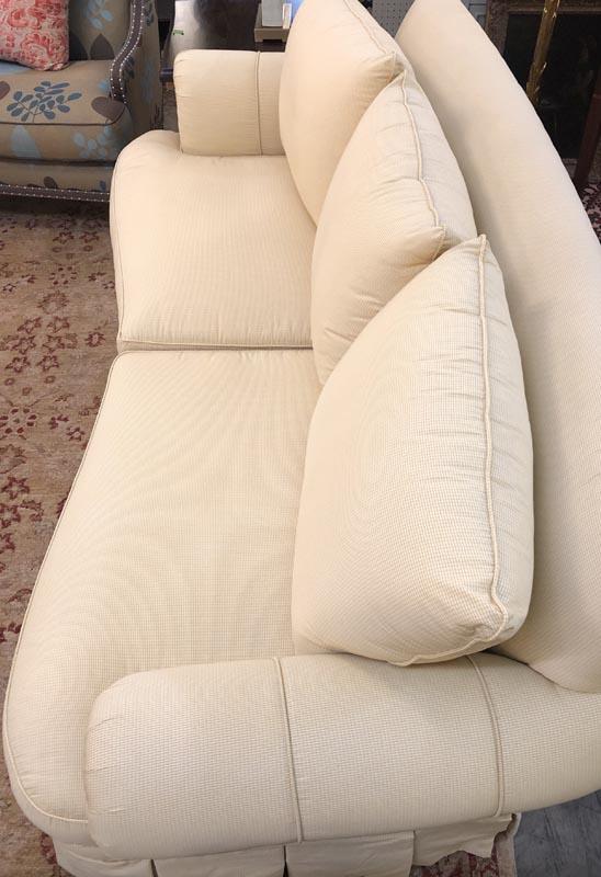 Anna's Mostly Mahogany Consignment - Silk Sofa