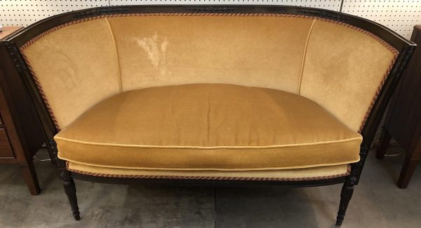 Anna's Mostly Mahogany Consignment - Mustard  Settee