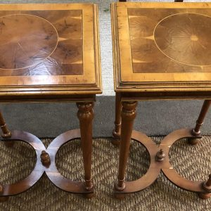 Anna's Mostly Mahogany Consignment - Oyster Wood End Tables
