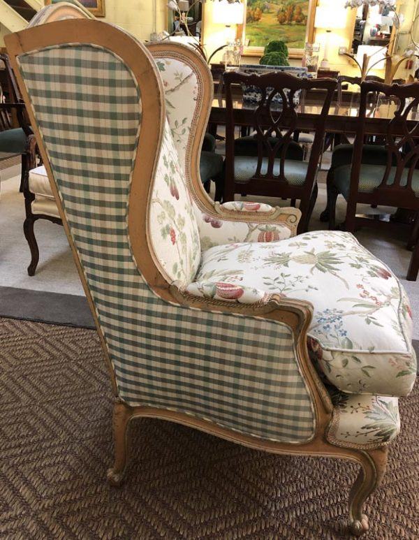 Anna's Mostly Mahogany Consignment - Botanical Wing Chair