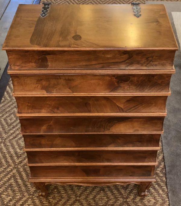 Anna's Mostly Mahogany Consignment - Book Form Chest of Drawers