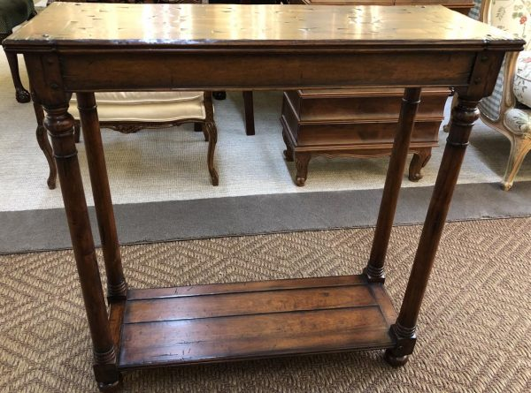 Anna's Mostly Mahogany Consignment - Walnut Oyster Console Table