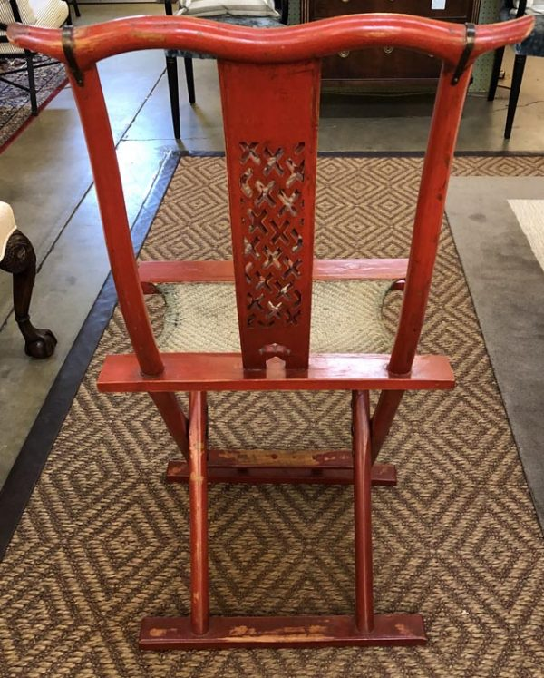 Anna's Mostly Mahogany Consignment - Red Asian Chair