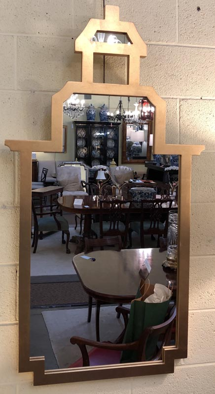 Anna's Mostly Mahogany Consignment - Moderne Pagoda Mirror