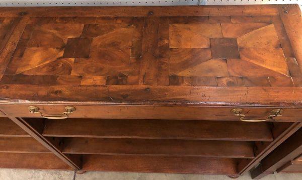Anna's Mostly Mahogany Consignment - Walnut Bookcase/ Console