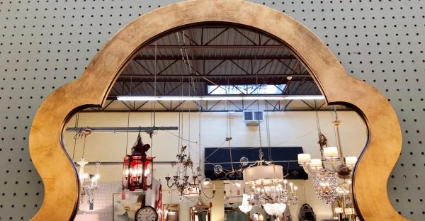Anna's Mostly Mahogany Consignment - Gold Arch Mirror